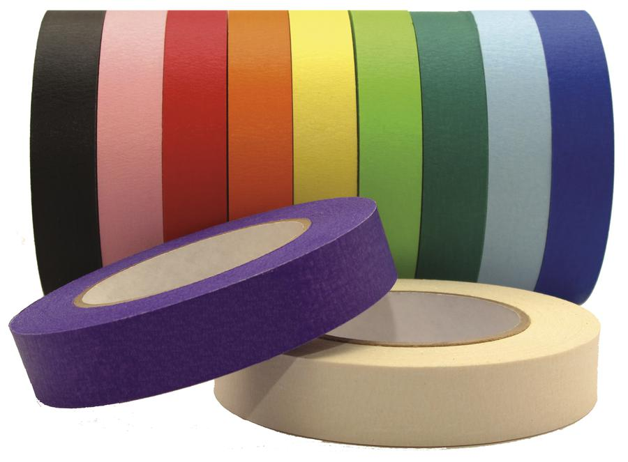 "Premium Masking Tape, Yellow 1"" x 60 Yards"