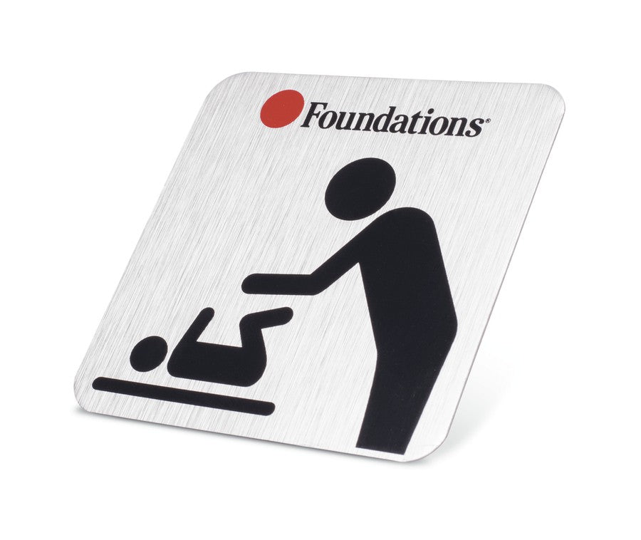 Foundations Changing Station Door Sign