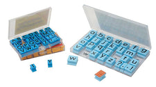 Stamps Uppercase Alphabet In Clear Plastic Case