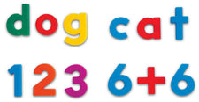 Alpha And Math Magnets Multi 214Pk