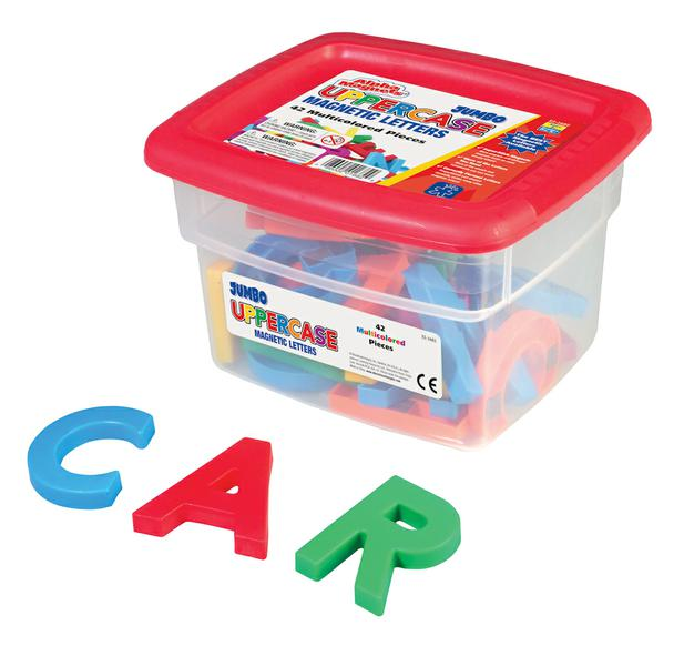 Alphamagnets Jumbo Uppercase 42 Pieces Multicolored