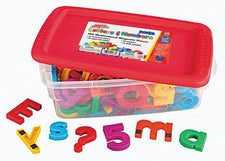Jumbo Alpha & Mathmagnets 100 Pieces Multicolored