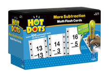 Hot Dots: More Subtraction, Math Flash Cards