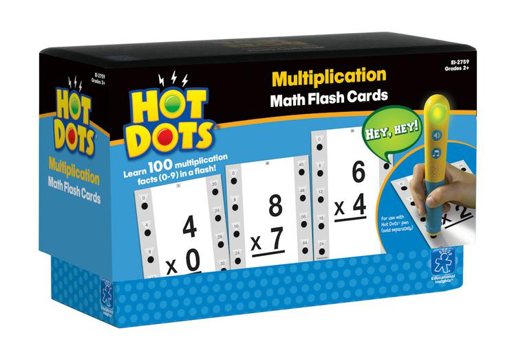 Hot Dots: Multiplication, Math Flash Cards