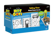 Hot Dots: Telling Time, Math Flash Cards