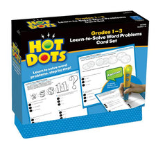 Hot Dots: Learn-to-Solve Word Problems Card Set, Gr 1-3