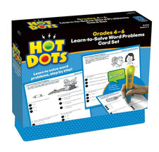 Hot Dots: Learn-to-Solve Word Problems Card Set, Gr 4-6