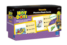 Hot Dots: Vowels, Phonics Flash Cards