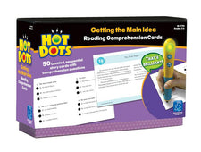 Hot Dots: Getting the Main Idea, Reading Comprehension Cards