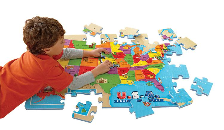 Usa Foam Map Puzzle Ei 4809 Supplyme