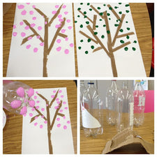 Earth Day Cherry Blossom Tree - Craft for Kids