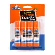 All Purpose Washable School Glue Sticks, 4 Pack