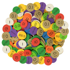 Sensational Math™ 10-Value Decimals To Whole Numbers Place Value Discs, 12-Pack