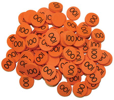 Place Value Disks 100 Hundreds Disks