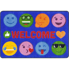 "Emoji Expressions™ Classroom Mat, 2'8"" x 3'10"" Rectangle"