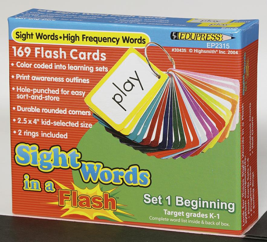 Sight Words in a Flash Cards, Grades K-1