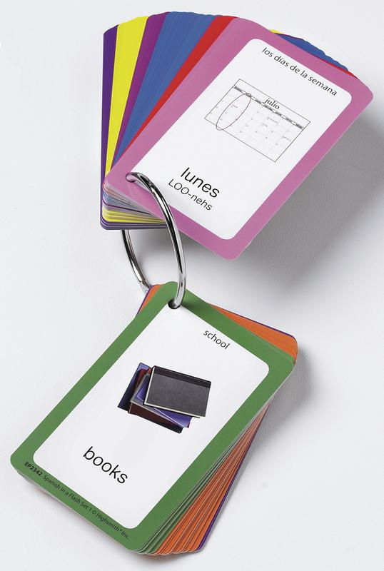 Spanish in a Flash Cards, Set 1