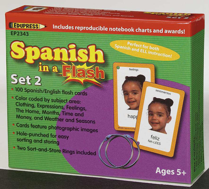 Spanish in a Flash Cards, Set 2
