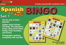 Spanish in a Flash Bingo Game, Set 1
