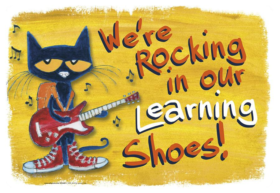 We're Rocking In Our Learning Shoes Bulletin Board Set Featuring Pete the Cat®