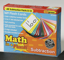 Math in a Flash™ Color-Coded Flash Cards, Subtraction