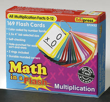 Math in a Flash™ Color-Coded Flash Cards, Multiplication