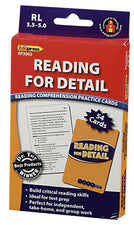 Reading for Detail Practice Cards, Blue Level