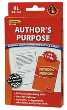 Author's Purpose Practice Cards, Red Level