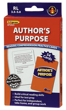 Author's Purpose Practice Cards, Blue Level