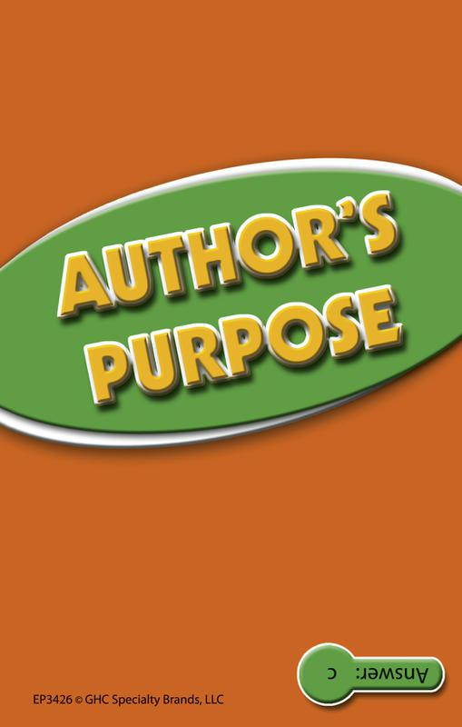 Author's Purpose Practice Cards, Green Level