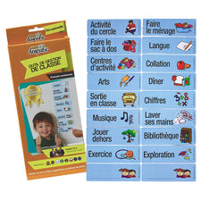 Visual Daily Classroom Schedule, Grades PreK-K (French)