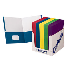 School Grade Twin Pocket Folders, 100 Per Box
