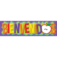 Color My World Horizontal Welcome Banner (Spanish)