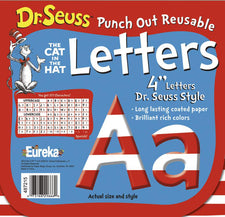 "Dr. Seuss™ 4"" Red & White Reusable Letters"