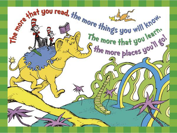 Dr. Seuss™ The More You Read 17 x 22 Posters