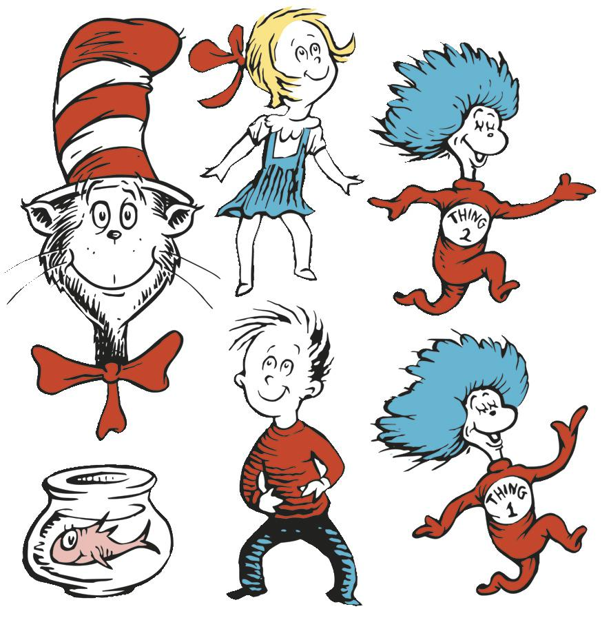Large Dr. Seuss™ Characters 2-Sided Deco Kit