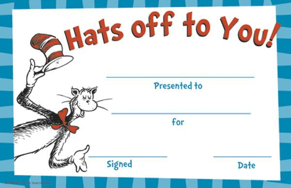 Cat in the Hat™ Hats Off To You Award
