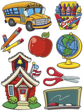 More School Supplies 12 x 17 Window Clings