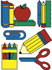 Window Cling School Tools 12 x 17