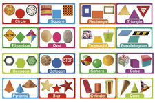 Shapes & Solids Mini Bulletin Board Set