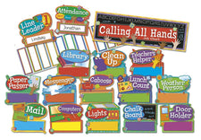 Hands On Management Job Chart Mini Bulletin Board Set