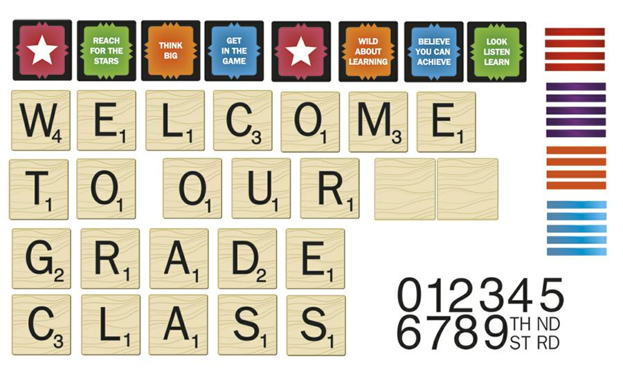 Scrabble Welcome To Our Class Mini Bulletin Board Set