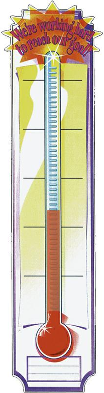 Banner Goal Setting Thermometer 45 x 12 Vertical