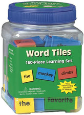 Word Tiles Parts Of Speech 160/Pk Color Coded