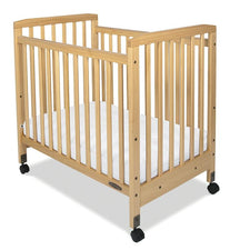 Bristol™ Compact Fixed-Side Crib, Slatted, Natural