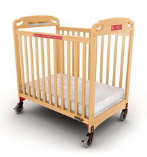 Safe Haven™ Evacuation Fixed-Side Crib, Clearview, Natural