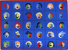 "Faces & Places© Classroom Rug, 5'4"" x 7'8"" Rectangle"