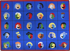 "Faces & Places© Classroom Rug, 7'8"" x 10'9"" Rectangle"