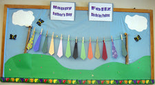 Interactive Spring Bulletin Board Idea for Father's Day