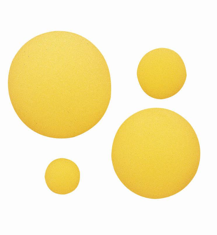 "Foam Ball, 8 1/2"" Uncoated Yellow"